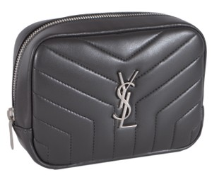 Saint Laurent New Saint Laurent YSL Nappa Leather Costmetic Makeup Bag