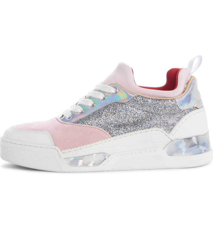 official photos a6ffd 4c7b7 Christian Louboutin Pink/White Aurelien Donna Sneakers Size EU 36 (Approx.  US 6) Regular (M, B)