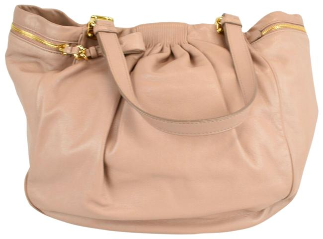 Item - Tote Ruched Light Pale Pink Leather Hobo Bag