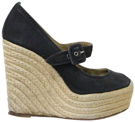 Preload https://img-static.tradesy.com/item/25593763/christian-louboutin-black-canvas-espadrilles-wedges-size-eu-355-approx-us-55-regular-m-b-0-2-540-540.jpg