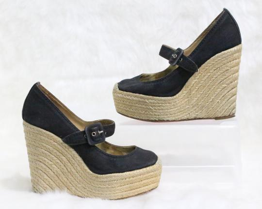 Christian Louboutin Black Wedges Image 3
