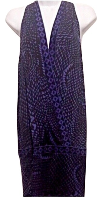 Item - Purple & Black Geometric Print Night Out Dress Size 6 (S)