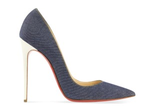 Christian Louboutin Denim Leather Stiletto Blue Pumps