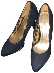 Christian Siriano for Payless Navy Blue Gd Trim Pumps