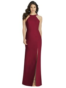 Dessy Burgundy Polyester 3039 Formal Bridesmaid/Mob Dress Size 8 (M)