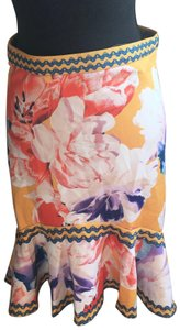 Jealous Tomato Skirt Yellow, White, Orange, Blue