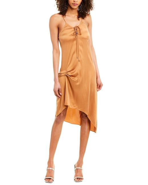 Item - Bronze 0 Silky Draped Assymetryc Mid-length Night Out Dress Size 0 (XS)