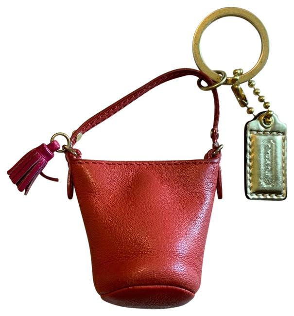 Item - Red Leather Duffel Keyring