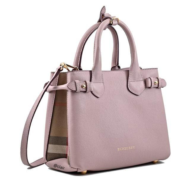 Item - Banner Pale Orchid Leather Satchel