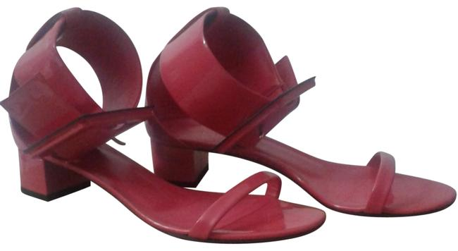 Gucci Fuchsia Belted Ankle Sandals Size EU 37.5 (Approx. US 7.5) Regular (M, B) Gucci Fuchsia Belted Ankle Sandals Size EU 37.5 (Approx. US 7.5) Regular (M, B) Image 1