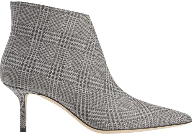 Item - Silver Marinda Pointy Toe Check Leather Boots/Booties Size EU 37.5 (Approx. US 7.5) Regular (M, B)
