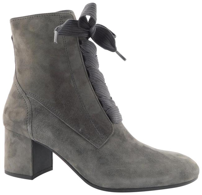 Item - Gray Suede Leather Victorian Style Block-heel 7uk/9.5us Boots/Booties Size US 9.5 Regular (M, B)