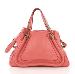 Chloé Leather Tote in pink