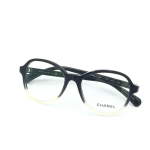 Chanel Chanel Round Beige & Black Eyeglasses Optical Frame 3340 1557