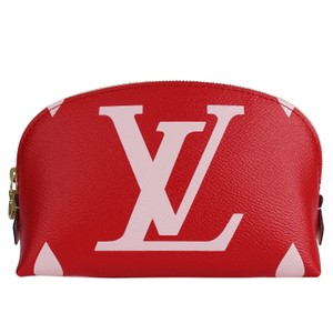 Louis Vuitton Giant Red and Pink Cosmetic Pouch 7494
