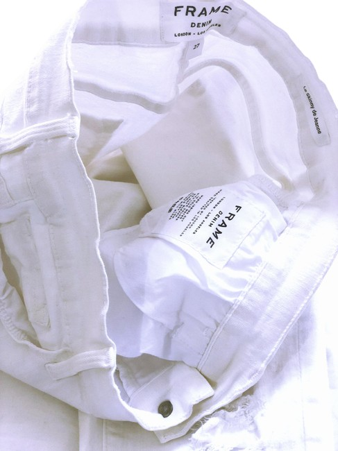 Item - White Light Wash Le Colorblanc Skinny Jeans Size 27 (4, S)
