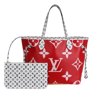 Louis Vuitton Monogram Canvas Limited Edition Leather Tote in Pink and Red