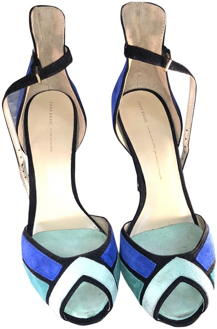 Item - Blue and Green Blue-green Ankle Strap Sandals Size US 10 Narrow (Aa, N)