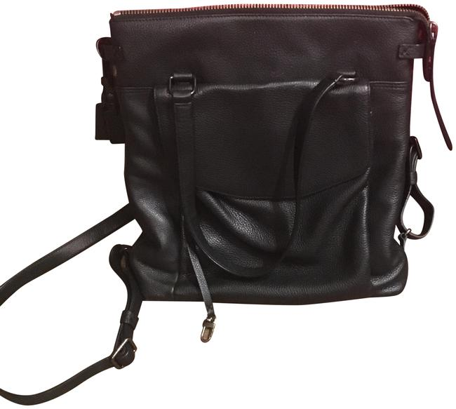 Item - Noho Essex Convertible Luggage Travel Black Leather Backpack