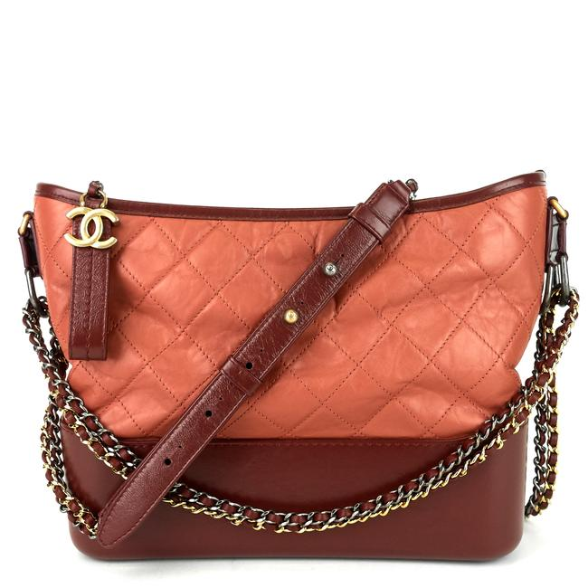 Item - Gabrielle Red Calfskin Leather Hobo Bag