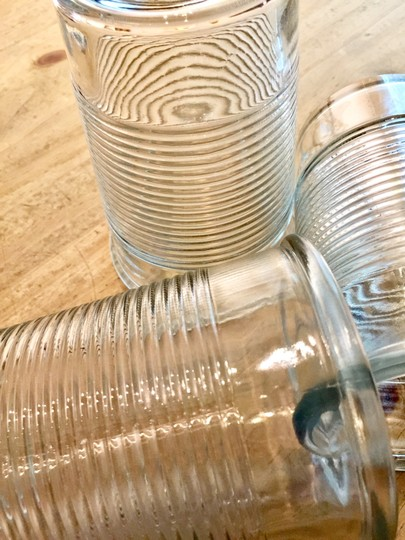 Pottery Barn Clear Ribbed Drinking Glasses Image 2