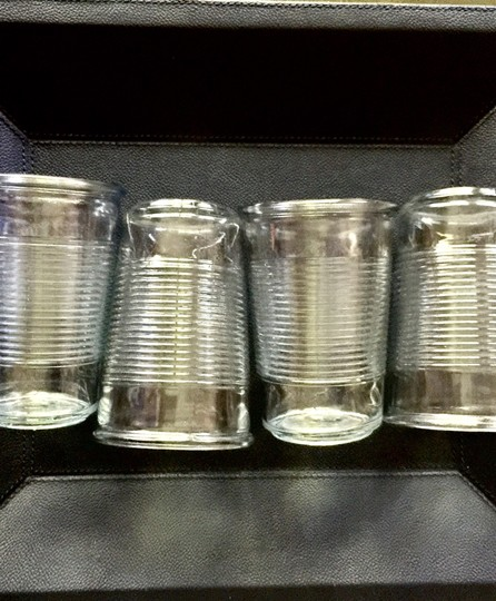 Pottery Barn Clear Ribbed Drinking Glasses Image 4