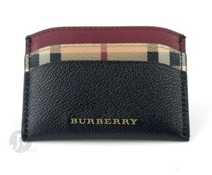 Burberry BRAND NEW BURBERRY HORSEFERRY HAYMARKET CHECK IZZY LEATHER CARD CASE W