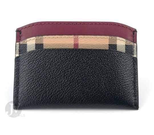 Burberry BRAND NEW BURBERRY HORSEFERRY HAYMARKET CHECK IZZY LEATHER CARD CASE W Image 1