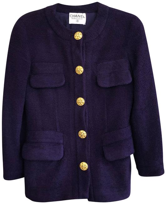 Item - Purple Vintage Wool Blend Knit Jacket Size 8 (M)