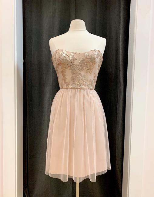 Item - Fawn Sequined Lace Shayla Gb009 Feminine Bridesmaid/Mob Dress Size 6 (S)