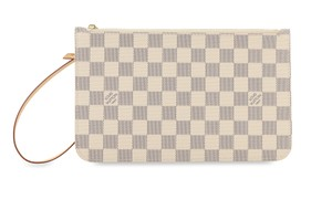 Louis Vuitton Clutch Wallets Pouch Lv Damier Handbags Wristlet in Blue