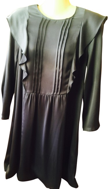 Item - Gray Ruffle Mid-length Night Out Dress Size 6 (S)