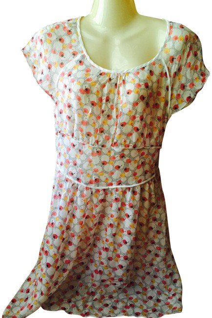 Juicy Couture Floral Print Ruffle Chiffon Mid-length Short Casual Dress Size 8 (M) Juicy Couture Floral Print Ruffle Chiffon Mid-length Short Casual Dress Size 8 (M) Image 1