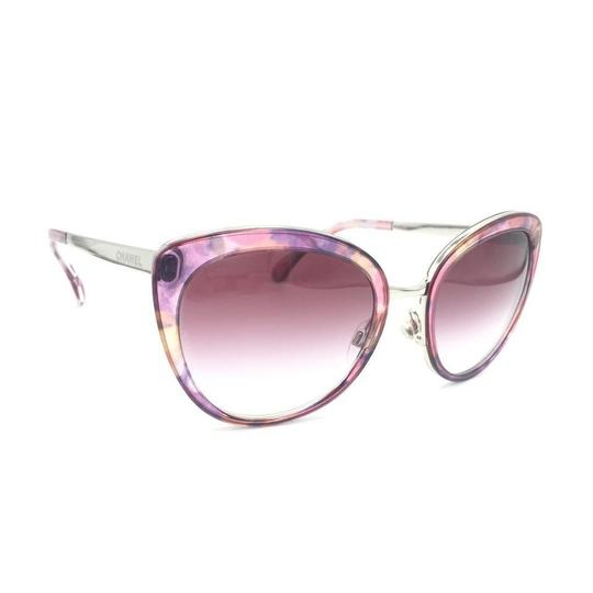 Chanel Cat Eye Transparent Pink Gradient Sunglasses 4208 c.466/S1 Image 2