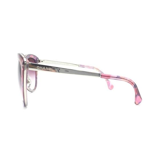 Chanel Cat Eye Transparent Pink Gradient Sunglasses 4208 c.466/S1 Image 3