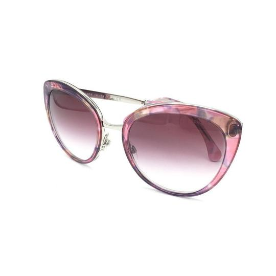 Chanel Cat Eye Transparent Pink Gradient Sunglasses 4208 c.466/S1 Image 9