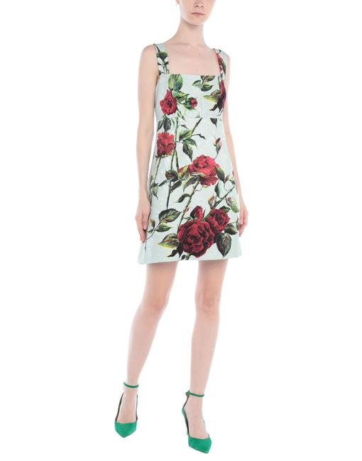 Preload https://img-static.tradesy.com/item/25598109/dolce-and-gabbana-light-green-dolce-and-gabbana-floral-short-cocktail-dress-size-8-m-0-0-650-650.jpg