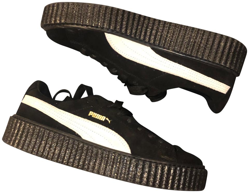 FENTY PUMA by Rihanna White Star Suede Creepers Sneakers Size US 10 Regular (M, B)