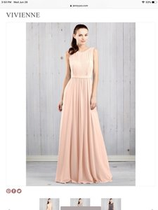 Jenny Yoo Blush Chiffon Viviane Formal Bridesmaid/Mob Dress Size 0 (XS)