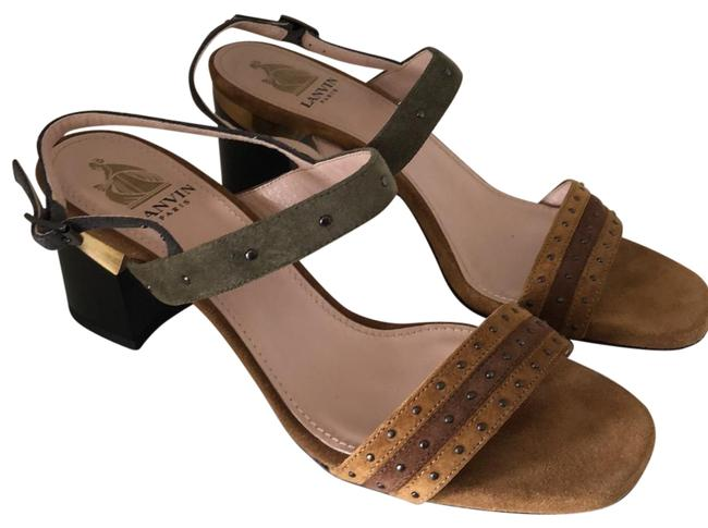 Item - Rust and Olive Shia Sandals Size EU 37 (Approx. US 7) Regular (M, B)