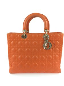 Dior Shoulder Bags Lady Tote in Orange