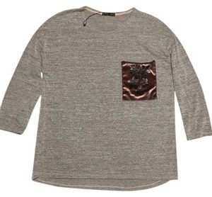 Zara T Shirt Marled Grey