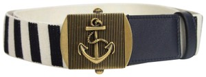 Gucci New Gucci Fabric Belt Anchor Brass Buckle 90/36 375191 4056