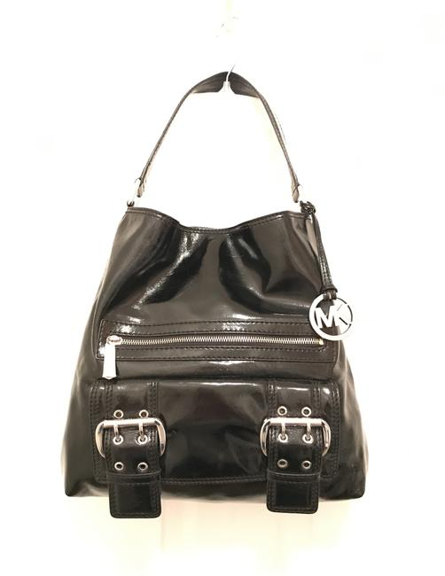 Item - New Redding Black Silver Patent Leather Tote