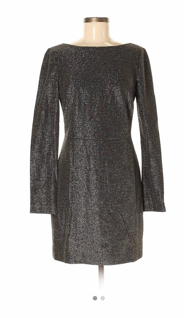 Item - Black and Gold Sheath 52779575 Mid-length Cocktail Dress Size 4 (S)