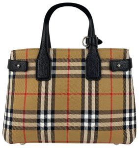 Burberry Tote in Check and Black