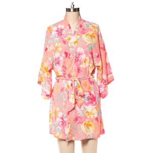 Coveted Clothing Pink Floral Robe