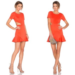 Lovers + Friends short dress Coral Cutout Night Out Circle Short Sleeves Party on Tradesy