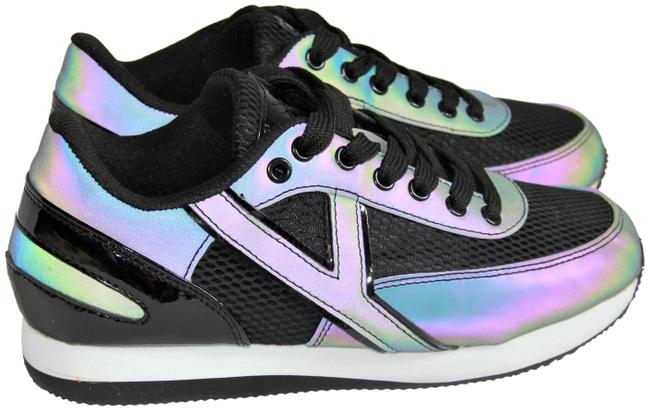 Item - Black Reflective Comfy Padded Sneakers Size US 6 Regular (M, B)