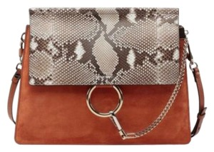 Chloé Faye Snakeskin Faye Shoulder Bag